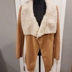 Glamorous faux suede coat Sz small